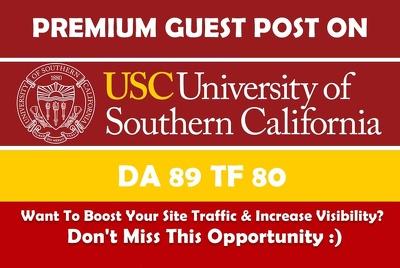 Publish Post on usc.edu - DA90 - EDU Guest Post/ Dofollow