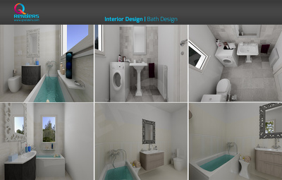 Do 3D Interior Rendering of Bathroom (Per Interior)