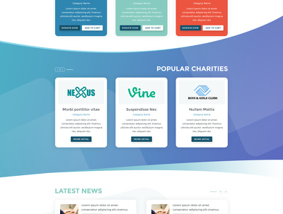 Design your fantastic website homepage/landing page PSD for you