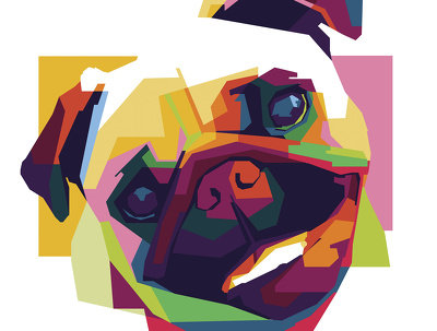 Draw colorful animal portrait of your pet