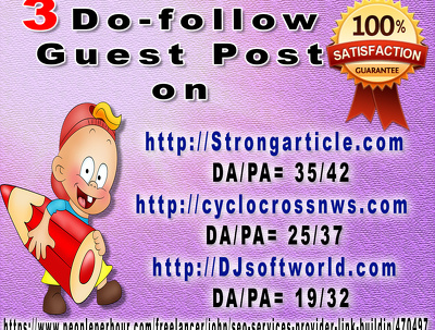 03 High Quality  Do-follow Guest Post