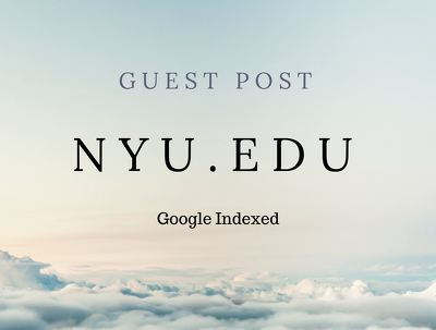 Real Blogger Outreach on NYU.edu Dofollow & Google Indexed DA91