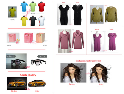 Remove edit product images ecommerce ( 10 - 20 images )