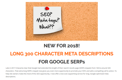 Write 15 long Google friendly meta descriptions to boost CTR