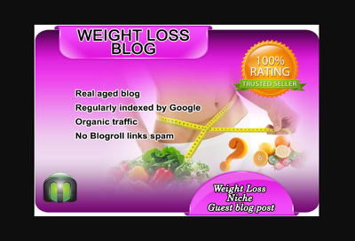 I will write and guest post on my weight loss blog