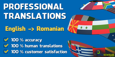 Professionally translate 500 words from English to Romanian