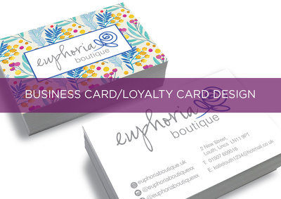 Design your professional business card/loyalty card