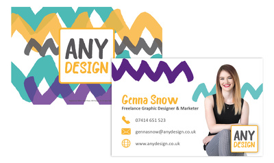 Design a bespoke business card, customised for <5 staff members