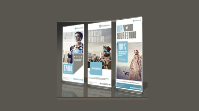 Design concpetual roller banner in an Hour