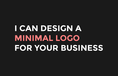 Design a minimal logo for your business