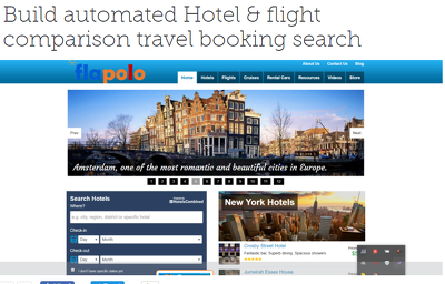 Build hotel and travel booking search