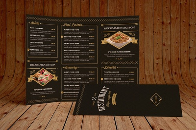 Do attractive food menu design