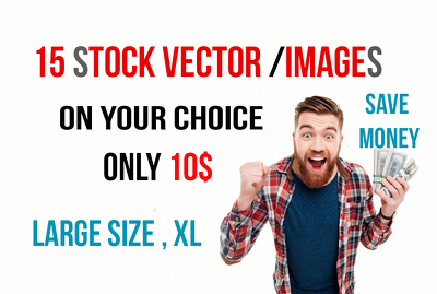 Provide copyright free 15 stock vector / photos in your choice