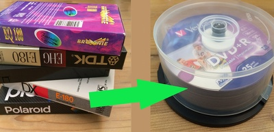 Copy VHS videotape to DVD