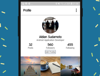 Create a social media android application for prototype purposes