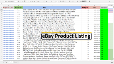 EBay Amazon 100 Product Research, Listing, Optimization