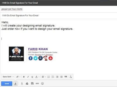 Create Email Signature For Your Email (gmail, hotmail, etc)