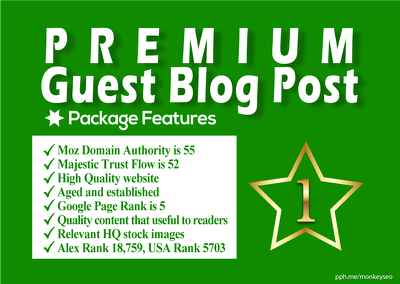 do Premium Guest Post On A High Authority News Website DA55-TF52