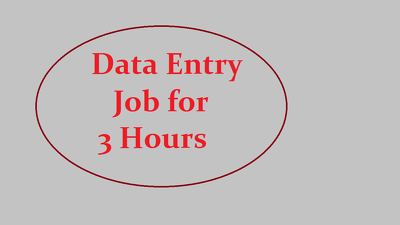 Do all kind of Data entry work for 3 Hours.