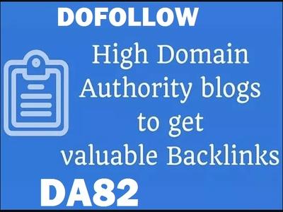 Publish Guest Post On a High Ranking DA82 Blog to increase SEO