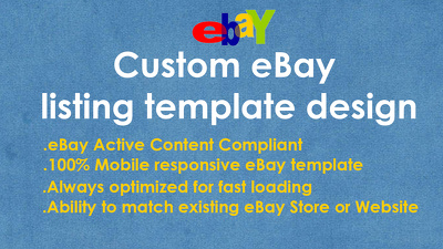Design Responsive eBay Template No Active Content