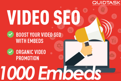 1000 YouTube Embeds for your video on PBN and Social Media