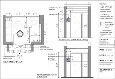 Draft 5 AutoCAD drawings