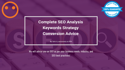 Do a detailed SEO audit of your site & give you an SEO strategy