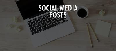 Produce copy for 30 social media posts