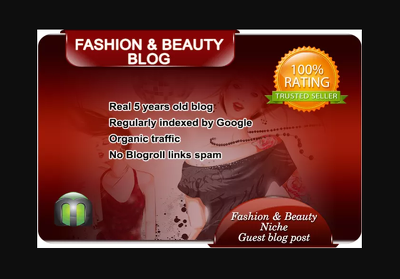 I will write and guest post on my fashion blog