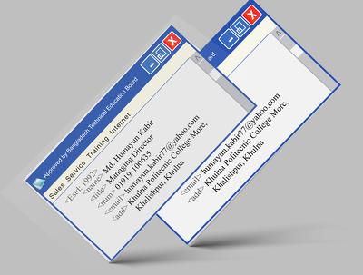 Design a brand promoting unique business card