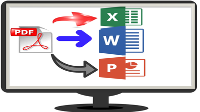 Convert pdf file to fillable  form, ms word , ms excel