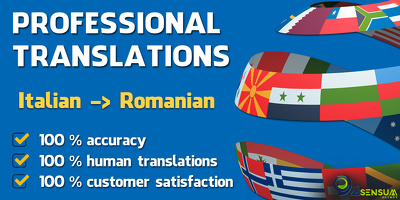 Professionally translate 500 words from Italian to Romanian