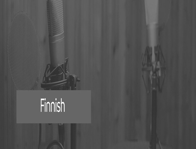Record up to 30 words of voice over in Finnish male/female