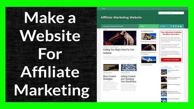 Create a Customized Affiliate WordPress Website