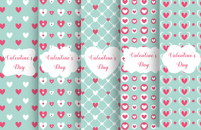 Provide five valentine day patterns