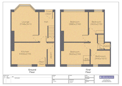 Make house floor plans drafted in autoCAD from sketches & photos
