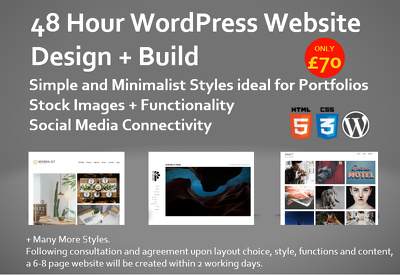 Build a WordPress Website within 48 Hours