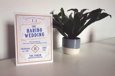 Design your A5 wedding invitations