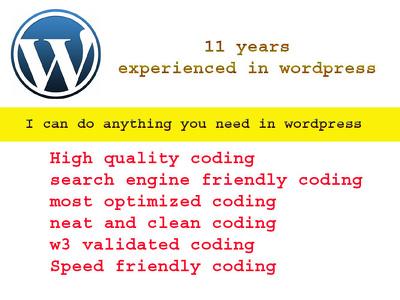 Work in wordpress hourly
