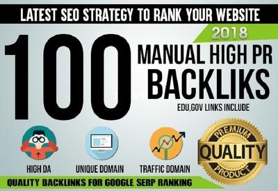 Provide 100+ High Quality Backlins With Good DA/PA Website