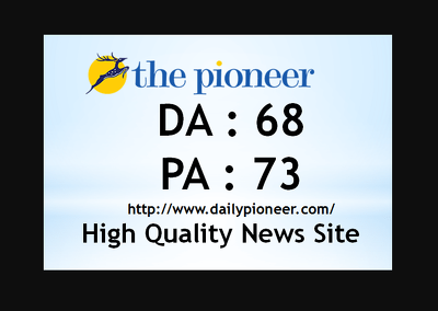 I will publish guest post on da 68 news site dailypioneer