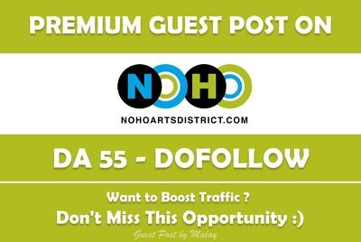 Publish Guest Post on NohoArtsDistrict.com - DA 55