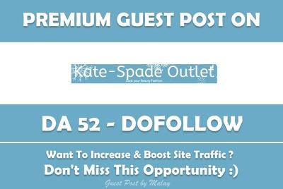 Publish Guest Post on Kate-Spadeoutlet.org - DA 52