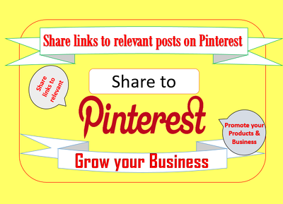 Share your links to 400 relevant posts on pinterest (manually)