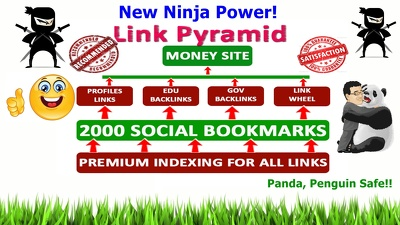 Rank top on Gooogle by High Quality NINJA Pyramid #1 SEO method