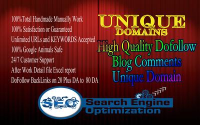 Post 50 Unique Domain Dofollow Backlinks Seo Service
