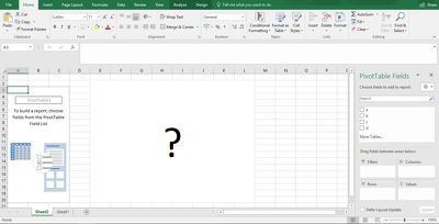 Create A Pivot Table in Excel As Required