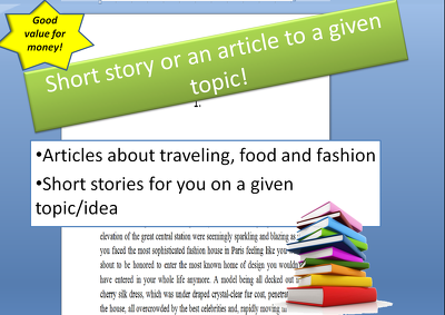 Write a short story or an article to a given topic