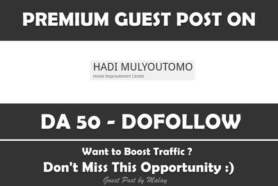 Publish Guest Post on Hadimulyoutomo.com - DA 50